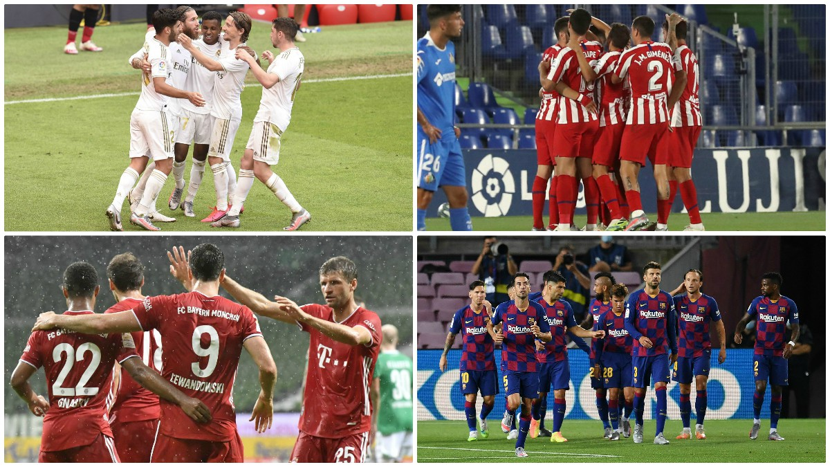 ¿Qué equipo llega mejor a la Champions League?