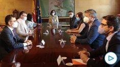 Reunión entre el PSOE y Ciudadanos. Foto: EP