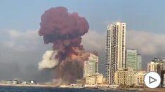 Enorme explosión en Beirut.