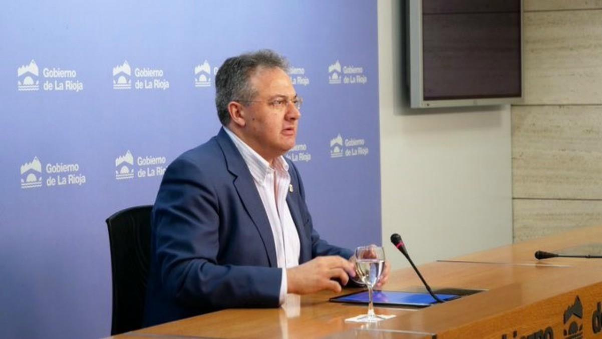 Luis Cacho, consejero riojano destituido tras las noticias de su sicav en Luxemburgo.