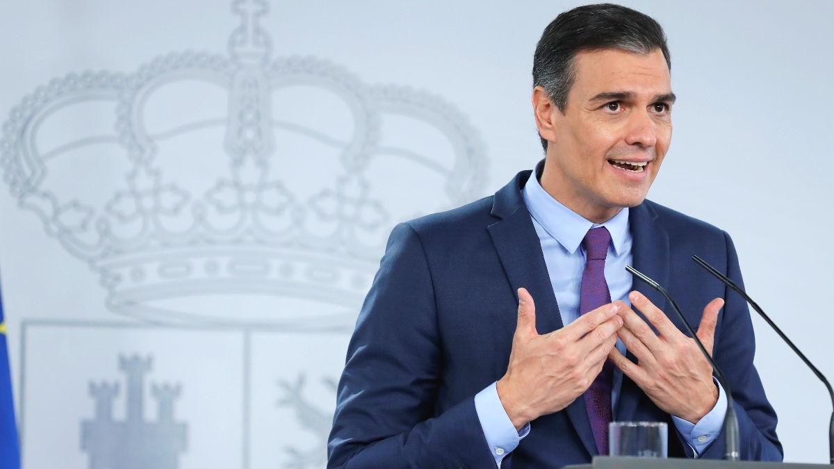El presidente del Gobierno, Pedro Sánchez, en el Palacio de la Moncloa. (Foto: Efe)