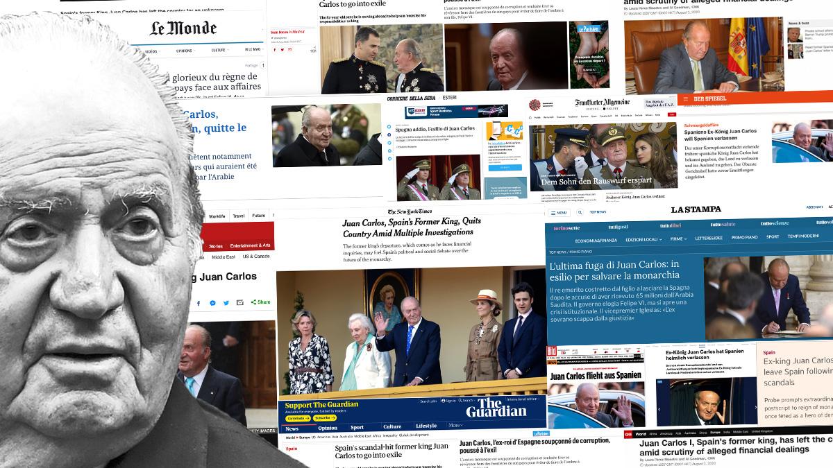 La prensa internacional se hace eco de la salida de Juan Carlos I de España.