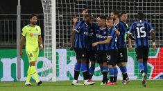 El Inter de Milán celebra un gol ante el Getafe. (AFP)