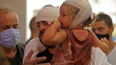 Entre los heridos por la explosión en Beirut se encuentran muchos niños. Foto: AFP