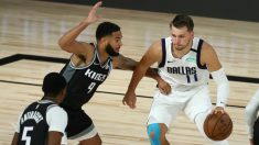 Luka Doncic durante el Sacramento Kings-Dallas Mavericks. (AFP)