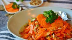 Ensalada de zanahorias aliñadas con pipas