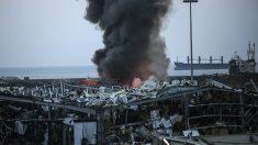 Imagen de la devastación causada por la gigantesca explosión de Beirut.