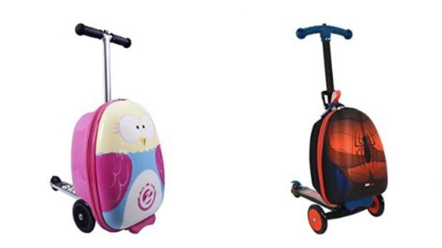 Maletas con patinete: el equipaje de moda para los niños