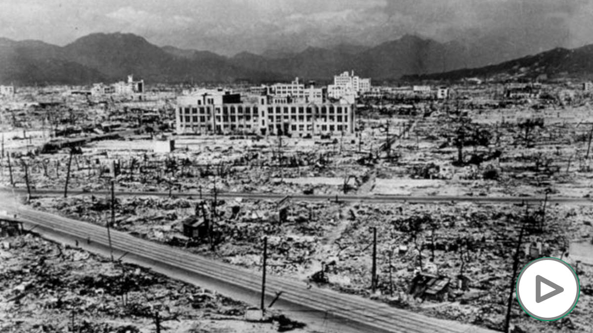 Ruinas en Hiroshima tras la bomba atómic4534