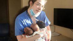 En medio del caos apareció la nueva heroína de Líbano para salvar a los bebés