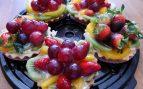 Tartaletas de uva y crema pastelera