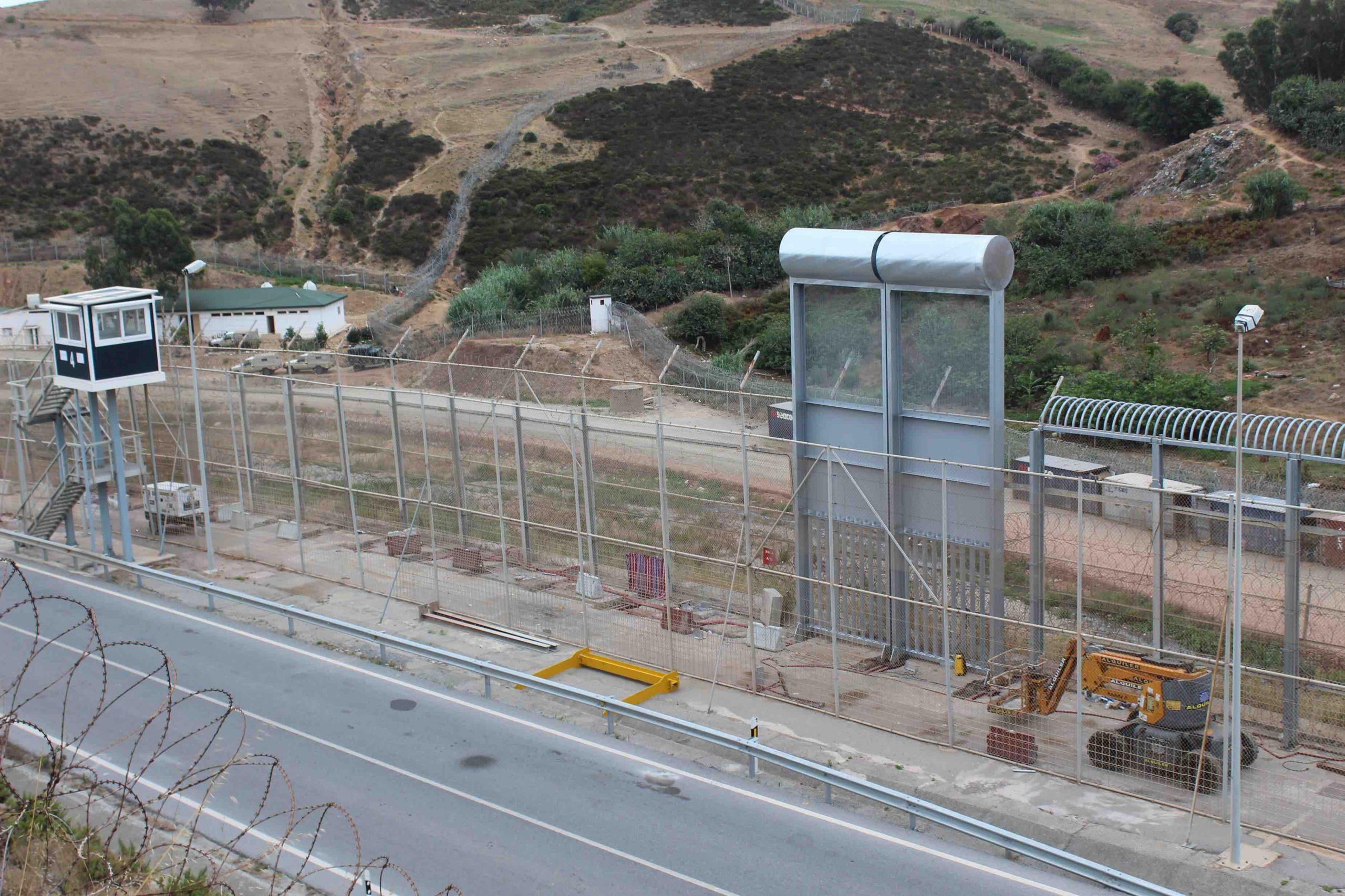 Así son las nuevas vallas de Ceuta: más altas y sin cuchillas.
