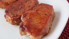 Chuletas de cerdo al estragón en olla exprés