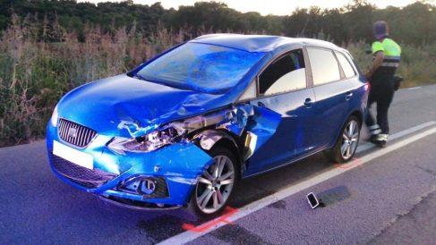 El coche implicado en el accidente. (Foto: EP)