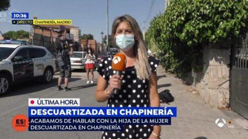 La reportera de 'Espejo Público'