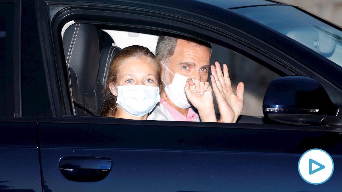LaFamilia Real llega a Marivent. En la imagen, Don Felipe y la Princesa Leonor. (Efe)