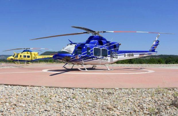 La Guardia Civil investiga si una banda de narcos robó el helicóptero de extinción de incendios de Cuenca