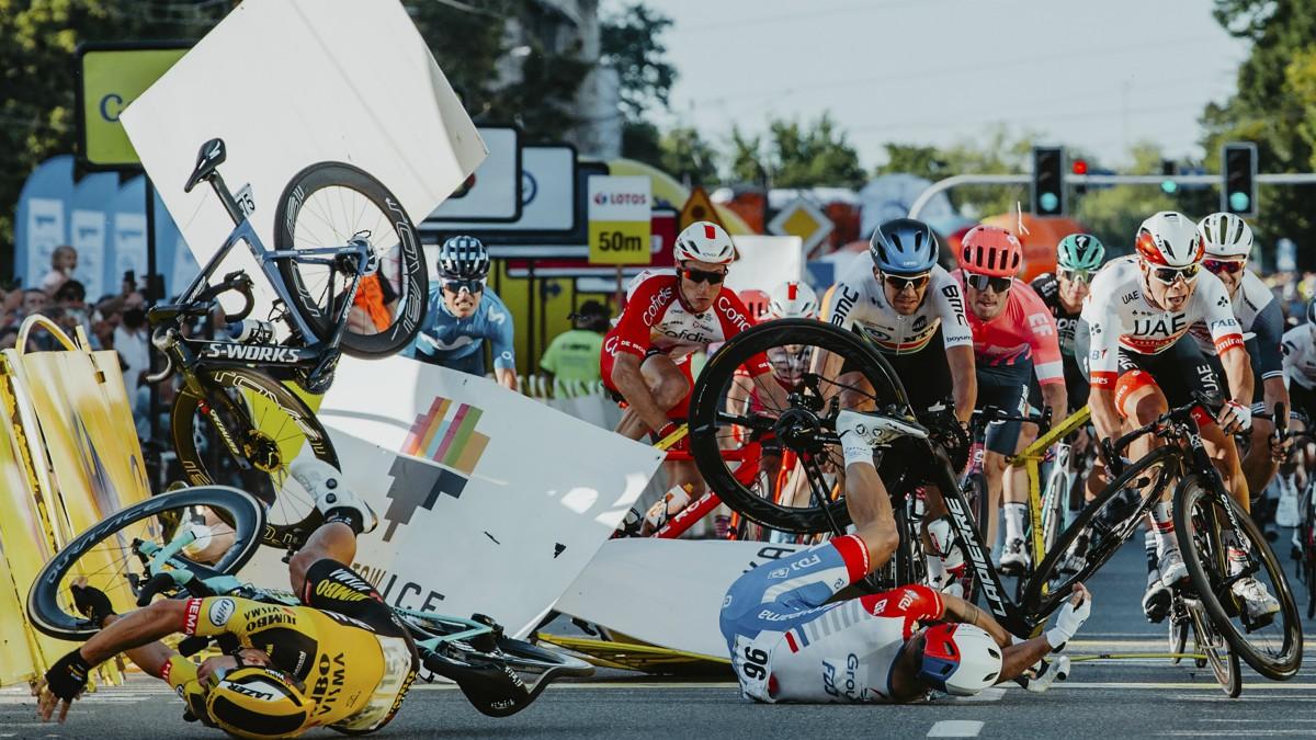 Imagen del accidente de Fabio Jakobsen. (AFP)