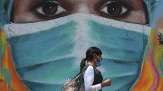 Mural sobre el coronavirus en Ciudad de México.