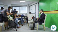 Santiago Abascal, durante la entrevista concedida a Europa Press.