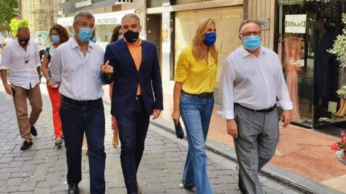 Ana Beltrán, Bendodo, García Urbano y Villanova en Estepona. Foto: EP