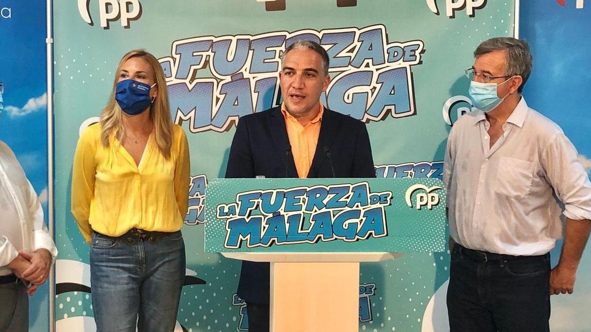 El portavoz del Partido Popular Andaluz y presidente del PP de Málaga, Elías Bendodo