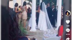 """TikTok: Una mujer interrumpe una boda gritando al novio: """"Tengo tu bebé aquí"""""""