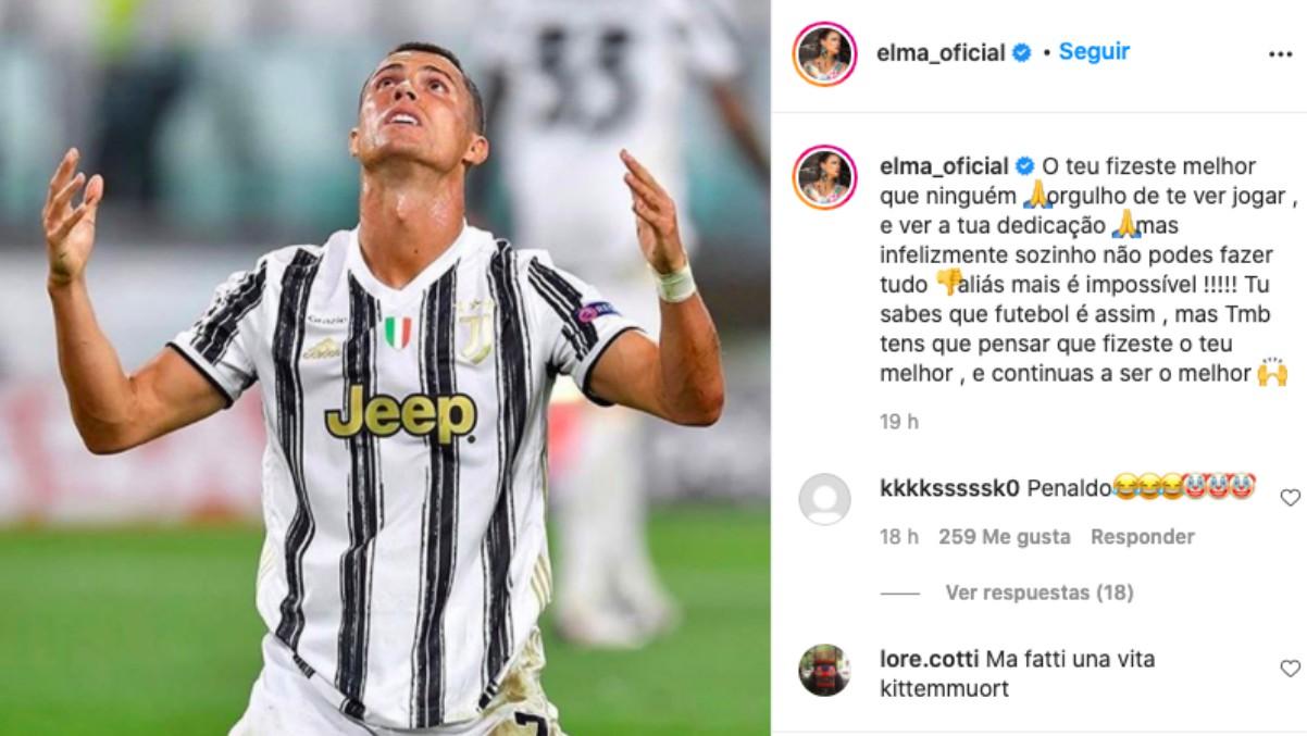 La hermana de Cristiano criticó a los jugadores de la Juve en Instagram. (Captura de pantalla)