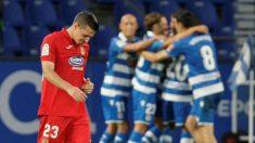 Los jugadores del Deportivo celebran el tanto decisivo. (EFE)