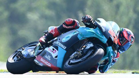 Fabio Quartararo, en el circuito de Brno. (Getty)