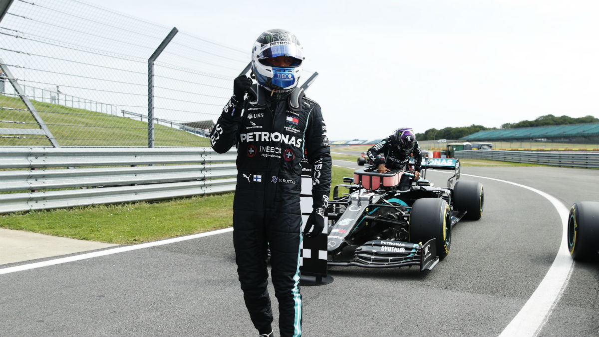 Valtteri Bottas, pole en Silverstone. (Getty)