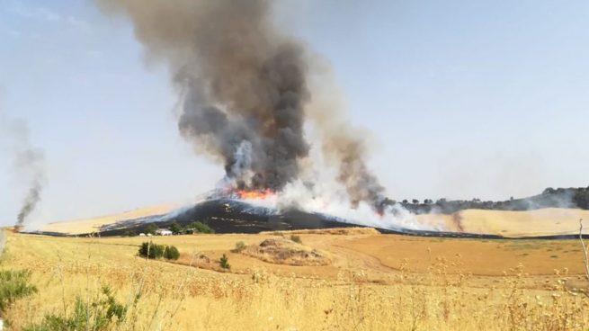 Desalojadas 70 personas de un camping de Málaga tras declararse un incendio