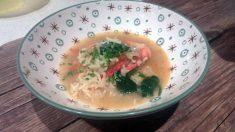 Receta de Sopa de arroz al aroma de estragón