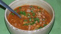 Receta de Chili de pavo con boniato y salsa de setas