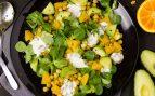 Receta de ensalada de garbanzos, aguacate y naranja