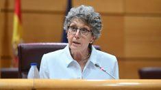 Rosa María Mateo, Administradora Provisional Única de RTVE, en el Senado (Foto: Efe)