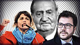 Teresa Rodríguez, Juan Carlos I y Pere Aragonés