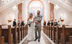 entrar en la iglesia en una boda
