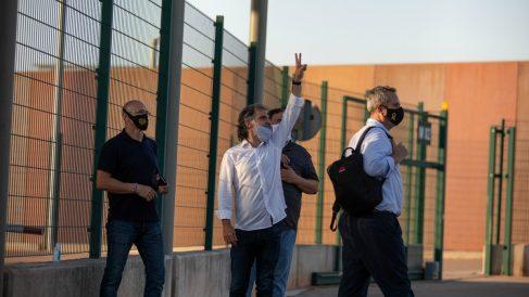 Presos del 1-O, dentro del recinto penitenciario de Lledoners.