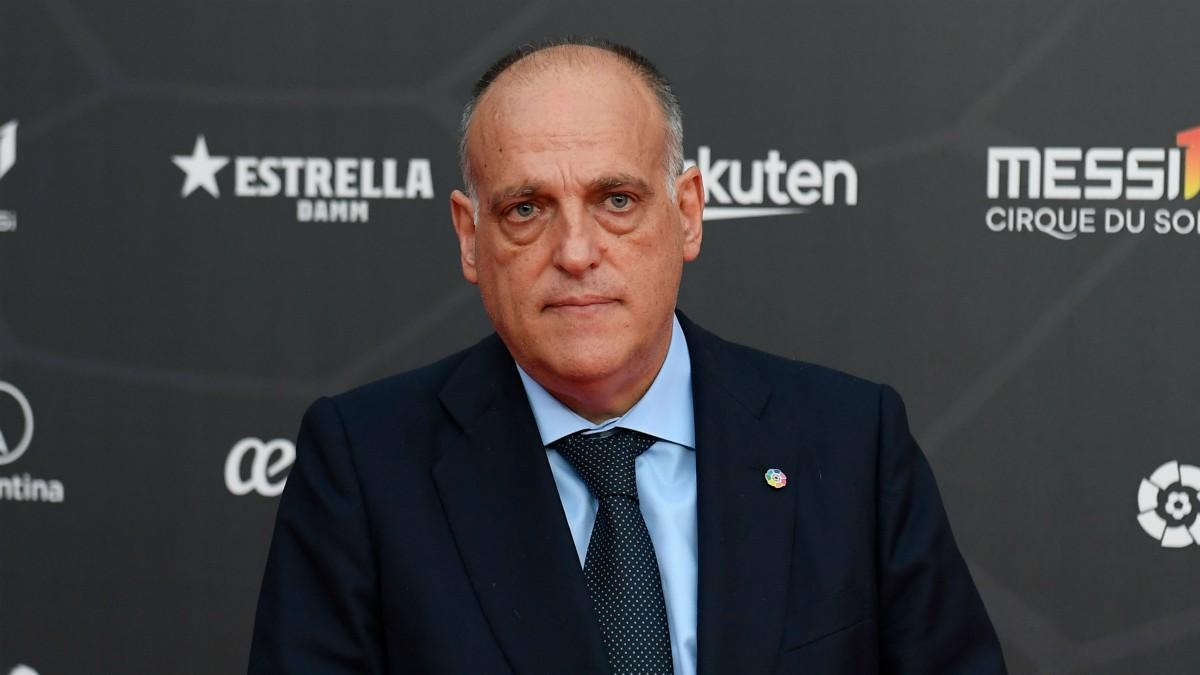 Javier Tebas presidente de la Liga.(AFP)
