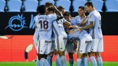 Los jugadores del Celta de Vigo celebran un gol. (Getty)
