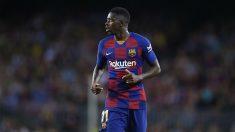 Ousmane Dembélé, en un partido con el Barcelona esta temporada. (Getty)