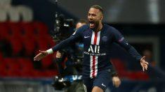 Neymar celebra un gol con el PSG. (Getty)