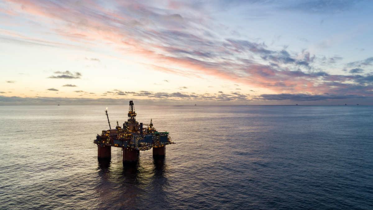 Plataforma petrolera en el Mar del Norte