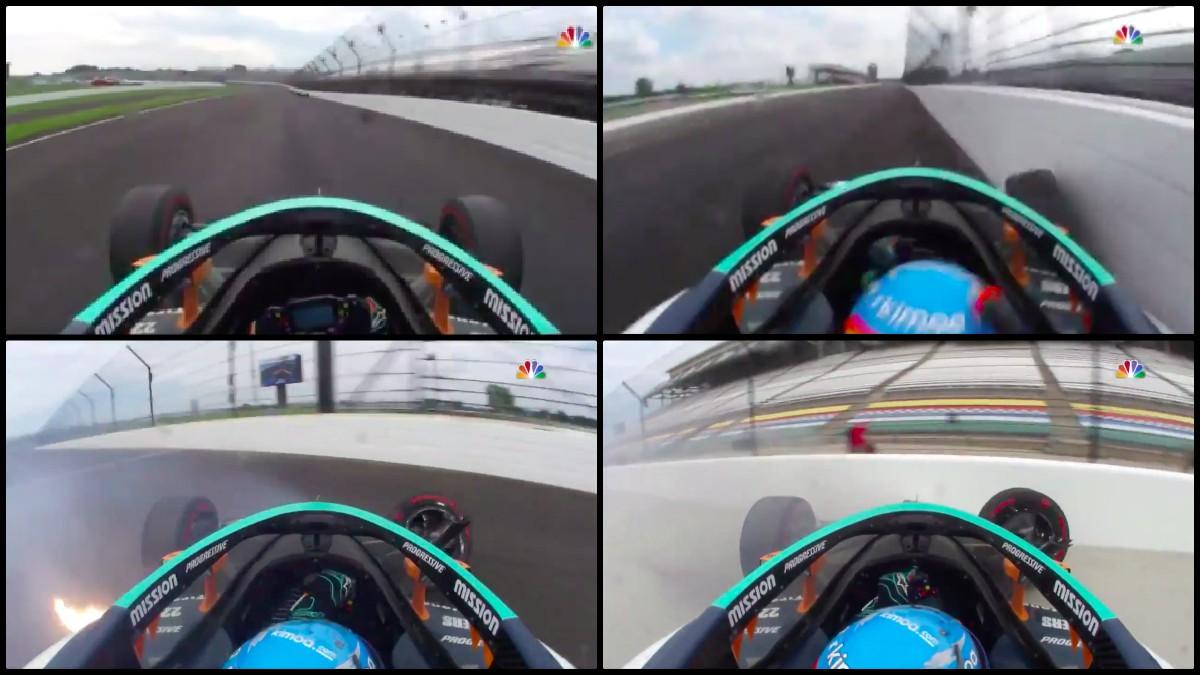 El accidente de Alonso en Indianápolis.