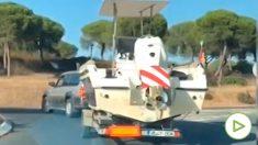 La Policía encuentra 1.000 kilos de hachís ocultos en una lancha recreativa en Huelva.