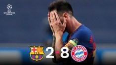 Messi se lamenta tras la peor derrota de su carrera.