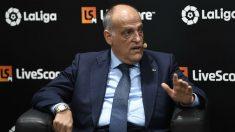 Javier Tebas, en un acto. (AFP)