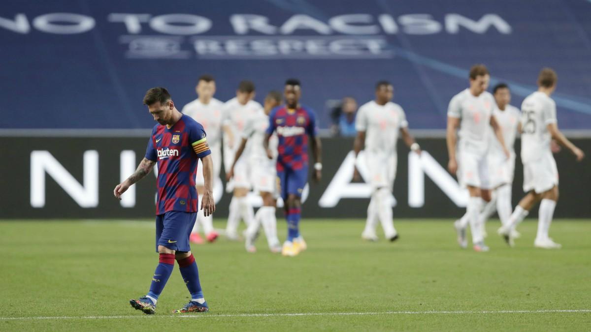 Messi, durante el Barcelona – Bayern. (AFP)