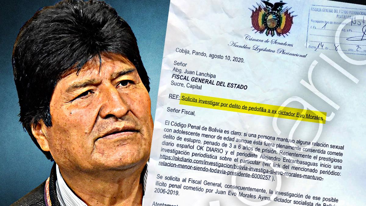 Denunciado Evo Morales por un delito de pedofilia